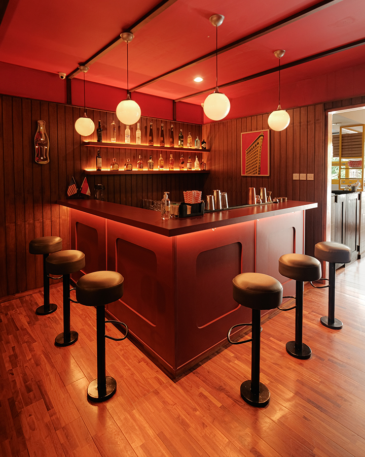 The Bar at Manhattan Slice Bali Interior Design by Samma Studio